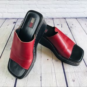 Vintage Tommy Hilfiger Leather Mules Made In Italy